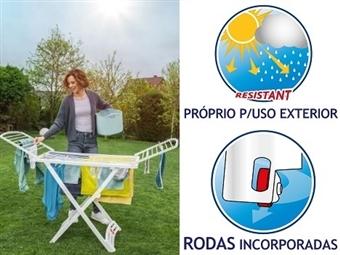 Estendal Solar da VILEDA. Ideal para Uso Exterior por 30€. Permite estender até 20 m de roupa. PORTES INCLUIDOS.