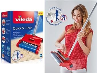 Sabrina Elétrica Sem Fios Quick & Clean da VILEDA por 49€. Inovador Sistema de Propulsão para uma Limpeza Rápida. ENVIO IMEDIATO e PORTES INCLUIDOS.
