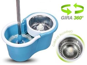 SUPER PREÇO: Esfregona Mágica Rotativa 360º e Balde com Tambor Rotativo em Aço Inox por 22€. Limpa mais rápido e com menos esforço. PORTES INCLUÍDOS.