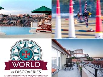 Especial RED BULL AIR RACE no Porto: 2 Noites com Pequeno-Almoço em Hotel de 4* ou 5* e entrada no Museu World of Discoveries desde 232€.