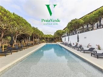 Praia Verde Boutique Hotel 4*: 2 Noites com Vista Mar, Pack Romântico de boas-vindas, Massagem de Casal e Jantar desde 236€ em Castro Marim.