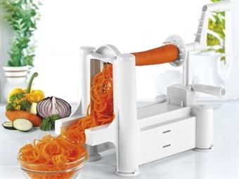 Espiralizador de Vegetais por 22€. Corte as suas verduras e legumes em forma de spaghetti, tagliatelle e fettuccine. VEJA O VIDEO. PORTES INCLUÍDOS.