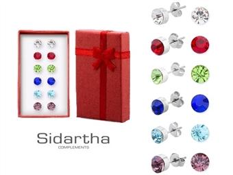 6 Pares de Brincos com BRILHANTES da SIDARTHA por 10.90€. Um conjunto com diferentes formas e cores para um visual sempre diferente. PORTES INCLUÍDOS.