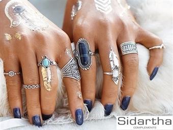 8 Anéis BOHEMIO da SIDARTHA em Prateado por 17.50€. Um design moderno e com muito charme que vai querer usar todos ao mesmo tempo. PORTES INCLUÍDOS.
