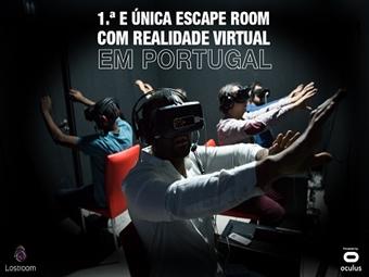 Lostroom - 1º ESCAPE ROOM EM REALIDADE VIRTUAL em Lisboa de 2 a 6 Pessoas desde 25€. Sinta a diferença nesta nova aventura!