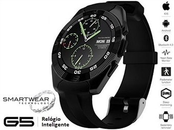 Relógio Inteligente G5 Preto - SmartWear Technology with Style por 69€. PORTES INCLUIDOS.