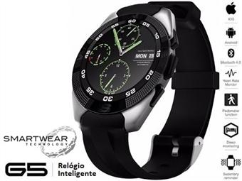 Relógio Inteligente G5 Prateado - SmartWear Technology with Style por 69€. ENVIO IMEDIATO e PORTES INCLUIDOS.