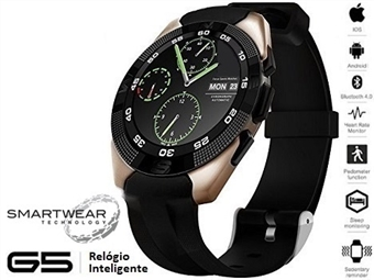 Relógio Inteligente G5 Dourado - SmartWear Technology with Style por 69€. ENVIO IMEDIATO e PORTES INCLUIDOS.