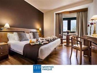 Apaixone-se junto ao Rio Tejo no TRYP Montijo Parque Hotel: Estadia com Jantar ou Massagem, Espumante e Bombons no Quarto desde 47€.