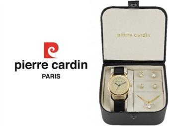 Conjunto Pierre Cardin Timeless Elegance com Relógio, Colar e 2 Pares de Brincos por 49€. ENTREGA: 48H. PORTES INCLUÍDOS.