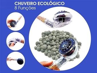Chuveiro Ecológico com 8 Funções por 13€. Poupa até 40% de água, elimina o cloro e ajuda a tonificar, hidratar e limpar a pele. PORTES INCLUÍDOS.