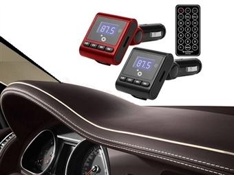 Transmissor FM/MP3 para o Carro com Comando, USB, Suporta Cartões SD e Micro SD e 2 Cores à Escolha por 13.90€. ENVIO IMEDIATO e PORTES INCLUÍDOS.
