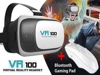 Óculos 3D de Realidade Virtual para Smartphones com Comando Bluetooth por 22€. Vídeos e jogos em 3D no seu Smartphone. PORTES INCLUÍDOS.