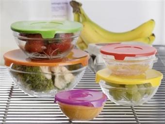 SUPER PREÇO: 5 Recipientes de Vidro com Tampa por 9€. Apto para Conservar Alimentos, Micro-Ondas, Congelador e Máquina de Lavar Loiça. PORTES INCLUÍDOS.