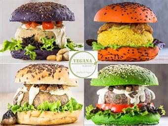 VEGANA BURGERS: Hambúrguer Vegan, Acompanhamento, Bebida, Café e Sobremesa TUDO À SUA ESCOLHA para 2 Pessoas em Lisboa ou Cascais por 16.90€.