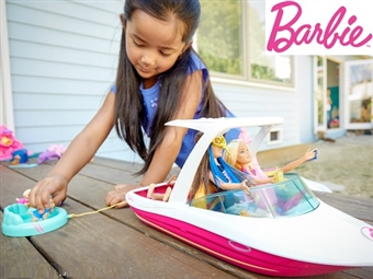 Barco da Barbie e os Golfinhos Mágicos com 3 Cãezinhos e Acessórios por 41.50€. Mergulha num oceano de aventuras. ENVIO IMEDIATO e PORTES INCLUÍDOS.