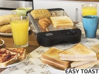 Torradeira Plana Horizontal de 600W com Resistência de Quartz por 19.90€. Ideal para todo o tipo de pães e bolos. VEJA O VIDEO. PORTES INCLUÍDOS.