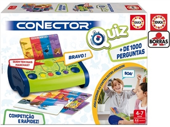 Conector QUIZ em Português por 24.50€. Joga sozinho ou em duo com mais de 1000 perguntas de temas variados e 4 modos de jogo. PORTES INCLUÍDOS.