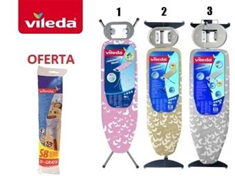 Tábuas de Engomar da VILEDA à escolha desde 35€. OFERTA: Rolo Adesivo da Vileda para Remover os Pelos e Pó dos Tecidos. PORTES INCLUIDOS.