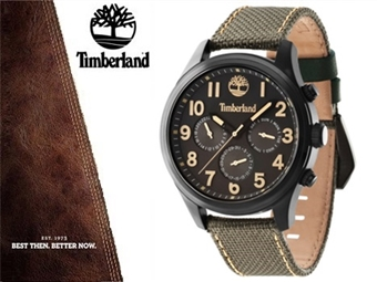 Relógio de Pulso TIMBERLAND 14477JSB61 por 85€. O presente ideal para o Homem que gosta da Natureza. ENTREGA: 48H. PORTES INCLUÍDOS.