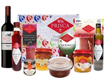 Mala Portugalidade GOURMET com Vinho do Tinto da CASA DA PRISCA desde 28€. Composta por 10 deliciosos produtos! PORTES INCLUÍDOS.