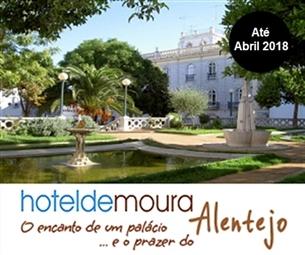 Hotel de Moura: Estadia com Pequeno-almoço, Tábua de Queijos e Enchidos e Garrafa Vinho Tinto Alentejano num Palácio Encantado no Alentejo por 26€.