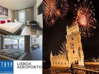 TRYP LISBOA AEROPORTO HOTEL 4*: Réveillon com Alojamento, Jantar, Bebidas, Música e Animação por 154€. Dance e divirta-se até de manha.