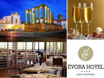 ÉVORA HOTEL 4*: Réveillon numa Cidade Património Mundial. 2, 3 ou 4 noites com Jantar, Brunch, Animação e Visita a Museu e Adega desde 278€. Aproveite