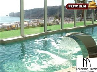 Miramar Hotel & SPA 4*: Fuga à Nazaré com Pequeno-Almoço & Circuito de SPA por 36€. Conforto, Luxo e Design com Vista sobre o Mar.