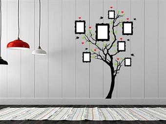 Árvore com Molduras em Vinil Autocolante Adesivo Decorativo de 57x85cm para Superfícies Lisas por 25€. Ideal para por as sua fotos! PORTES INCLUÍDOS.