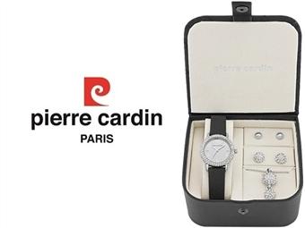 Conjunto Pierre Cardin PCX4378L190 com Relógio, Colar e 2 Pares de Brincos por 49€. ENTREGA: 48H. PORTES INCLUÍDOS.