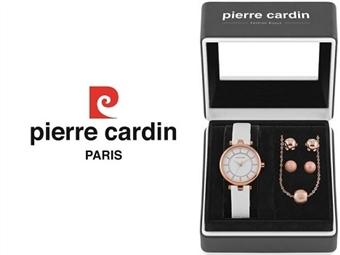 Conjunto Pierre Cardin PCX5586L233 com Relógio, Colar e 2 Pares de Brincos por 49€. ENTREGA: 48H. PORTES INCLUÍDOS.