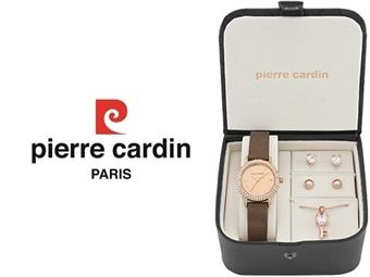 Conjunto Pierre Cardin PCX4381L193 com Relógio, Colar e 2 Pares de Brincos por 49€. ENTREGA: 48H. PORTES INCLUÍDOS.