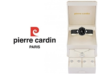 Conjunto Pierre Cardin PCX5588l235 com Relógio, Colar e 2 Pares de Brincos por 49€. ENTREGA: 48H. PORTES INCLUÍDOS.