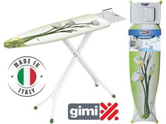 Tábua de Engomar Classic da GIMI com capa, suporte, apoio reversível para o ferro e pés anti-deslizantes por 25€. ENVIO IMEDIATO e PORTES INCLUIDOS.