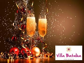 RÉVEILLON no VILLA BATALHA 4*: 2 Noites com Pequeno-Almoço e Circuito SPA. Festa de Fim de Ano com Jantar de Gala, Bar aberto e Animação por 255€.