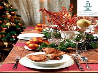 Natal no Hotel Termas da Cúria: Até 3 Noites com Pequeno-Almoço. Jantar de Consoada e Almoço de Natal desde 81€. Reúna a família e amigos à mesa.