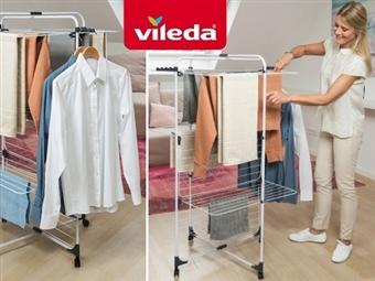Estendal Torre Modular de 3 Níveis Ajustável da VILEDA que permite estender até 33 m de roupa por 24€. PORTES INCLUIDOS.