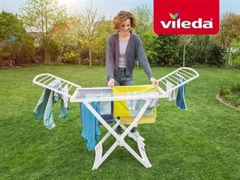 Estendal Solar da VILEDA. Ideal para Uso Exterior por 32€. Permite estender até 20 m de roupa. PORTES INCLUIDOS.