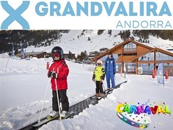 GRANDVALIRA: ESPECIAL CARNAVAL na NEVE: 5 Noites no Hotel Ski Plaza 5* com Meia-Pensão. Voo TAP, Transferes. 5 dias de Forfait e Material desde 1196€.