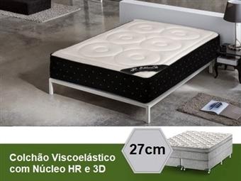 Colchão Viscoelástico Capri 3D Sensitive Deluxe de Casal ou Solteiro com 27 cm de Altura, Núcleo HR e