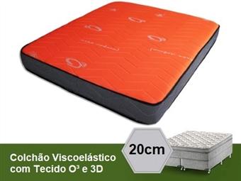 Colchão Viscoelástico Deluxe O³ e 3D de Casal ou Solteiro com 20 cm de Altura desde 99€. VER VIDEO. PORTES INCLUIDOS.