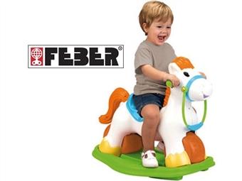 FEBER: Ponyfeber por 55.50€. Andador em forma de cavalinho com som de relincho de cavalo, convertível em balanço e estável. PORTES INCLUÍDOS.