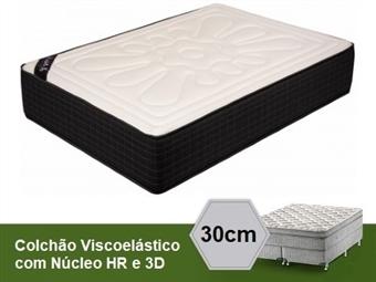 Colchão Viscoelástico Firenze 3D Sensitive de Casal ou Solteiro com 30 cm de Altura e Núcleo HR desde 149€. PORTES INCLUÍDOS.