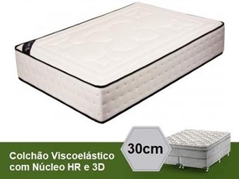 Colchão Viscoelástico Ibiza 3D Visco Fresh de Casal ou Solteiro com 30 cm de Altura e Núcleo HR desde 149€. PORTES INCLUÍDOS.