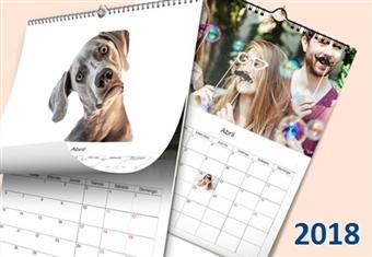 Calendário de Parede com Capa em A4 de 12 Páginas de 21x29,7cm Personalizado com as suas Fotografias e Imagens Preferidas desde 6.50€. À sua medida!