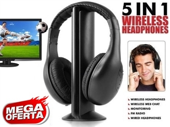 MEGA OFERTA: Auscultadores sem Fios para TV, PC, MAC, Leitor de MP3, CD e DVD por 17€. Radio FM Incorporado. PORTES INCLUÍDOS.