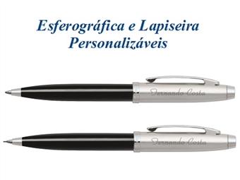Conjunto de Esferográfica e Lapiseira SHEAFFER Metálicas Personalizadas com Gravação Digítal por 55€. Um presente com personalidade.