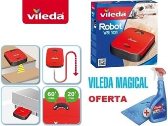 Robot Aspirador VR101 + Conjunto Vileda Magical (Solução e Pano) por 109€. SUPER OFERTA VILEDA. Ver Video. ENVIO: 48H. PORTES INCLUIDOS.