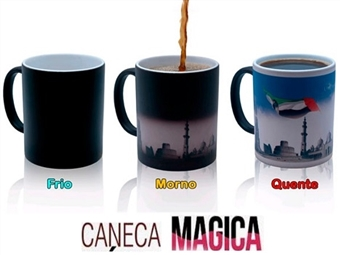 Caneca Mágica Personalizada com as suas Fotografias e Imagens Preferidas por 13€. Um presente original! VEJA O VIDEO.